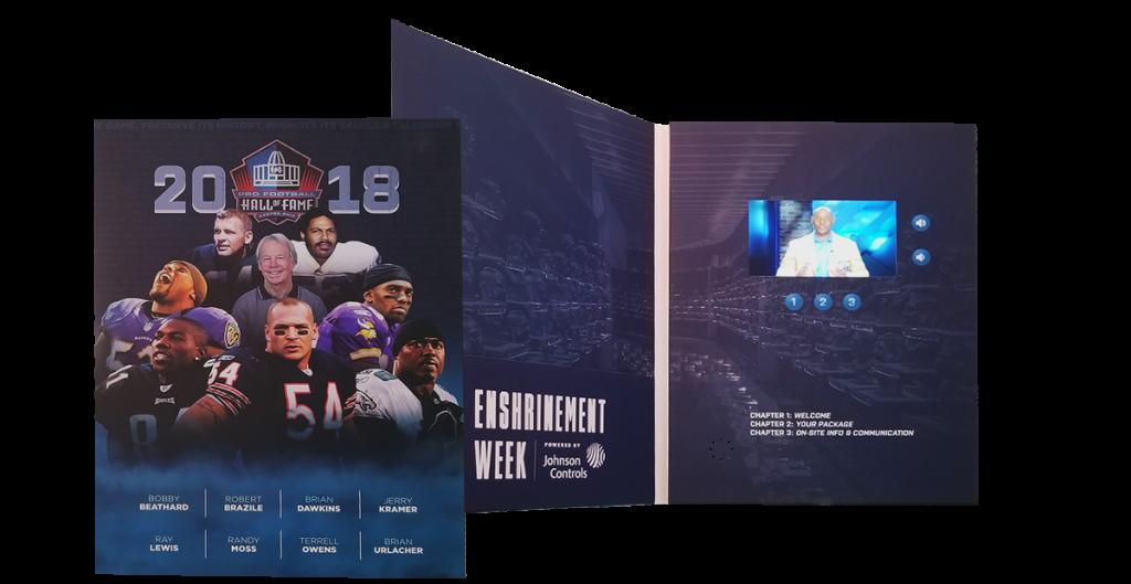 NFL Hall of Fame Video Brochure