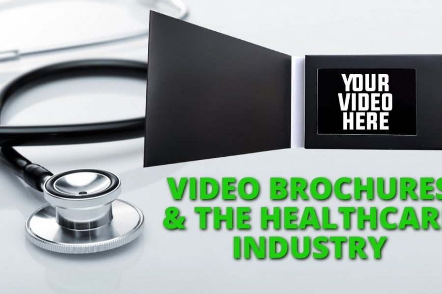 video brochures with healthcare background